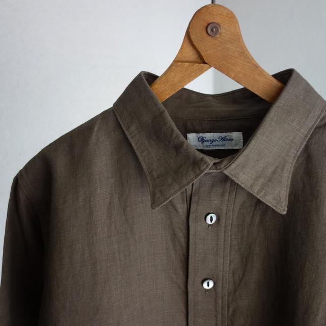 classic linen tailor shirt / olive