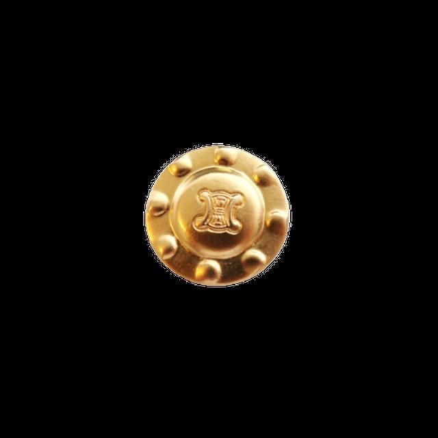 【VINTAGE  CELINE BUTTON】ドット ロゴ ボタン  2.1cm L-20006