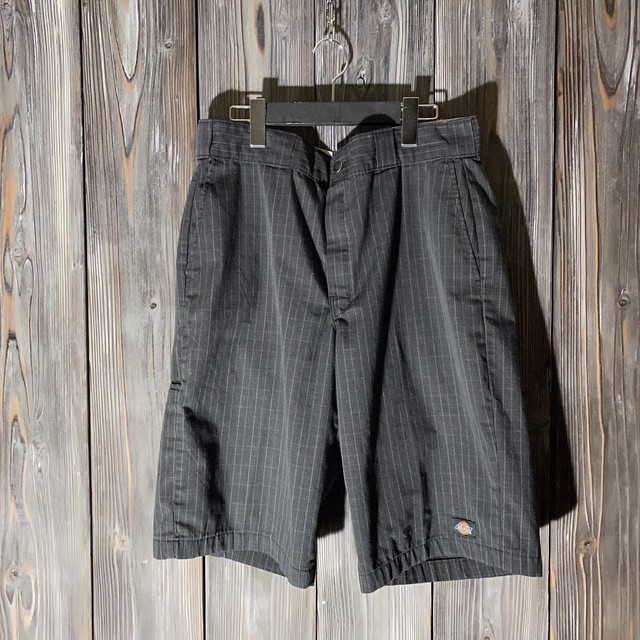 [Dickies]black check half pants