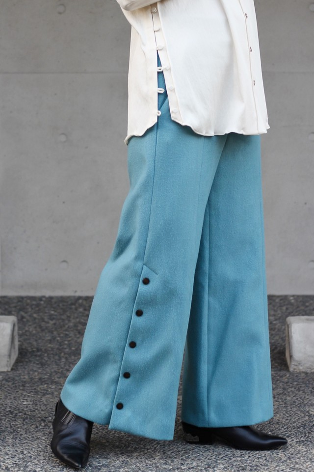 【eicayoshinari】light melton pants