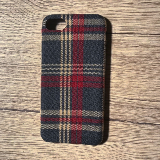 iPhoneケース 7 8兼用 オーバーチェック柄ケース