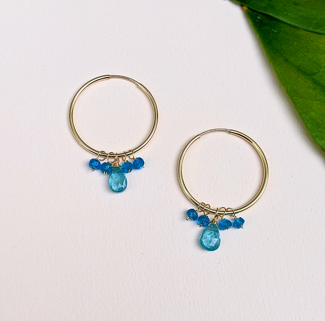 Blue Apatite earrings | MIHO meets RUKUS