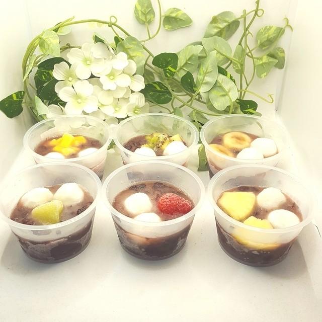 白玉入りフルーツぜんざい6個入り(冷凍)