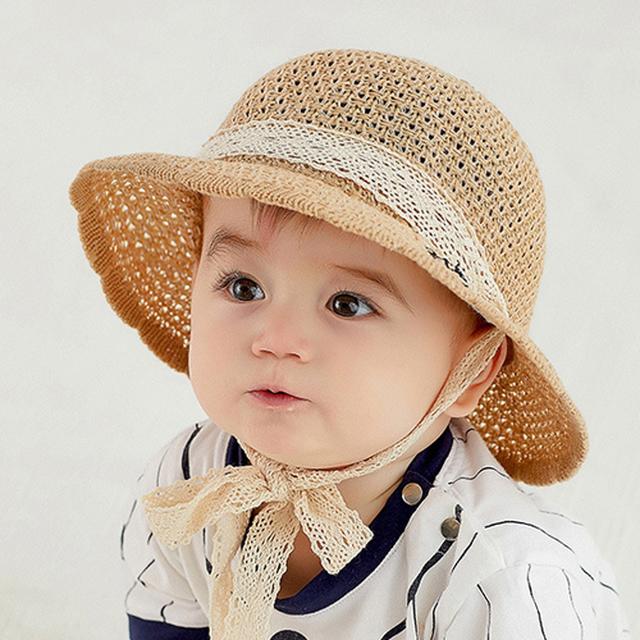 【小物】子供帽子夏の赤ちゃん帽子サンバイザー男の子漁師帽子女の子帽子日焼け帽子帽子24950339