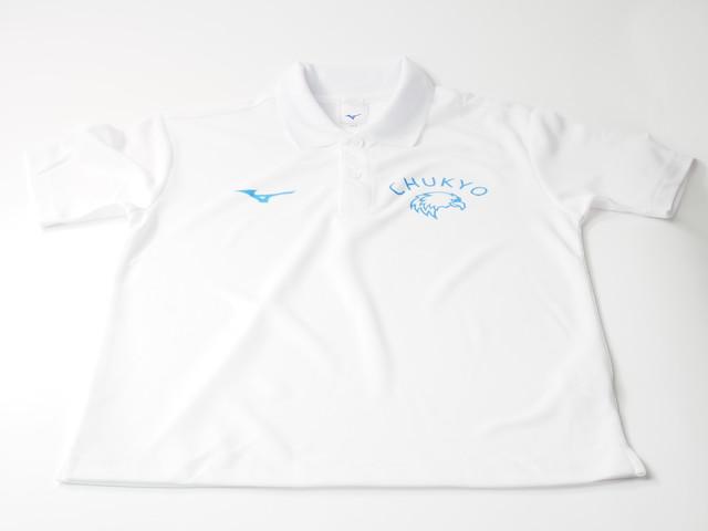 「CHUKYOイーグル」ホワイトポロシャツ