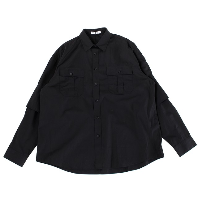 JW ANDERSON Double Cuffs Shirt Black