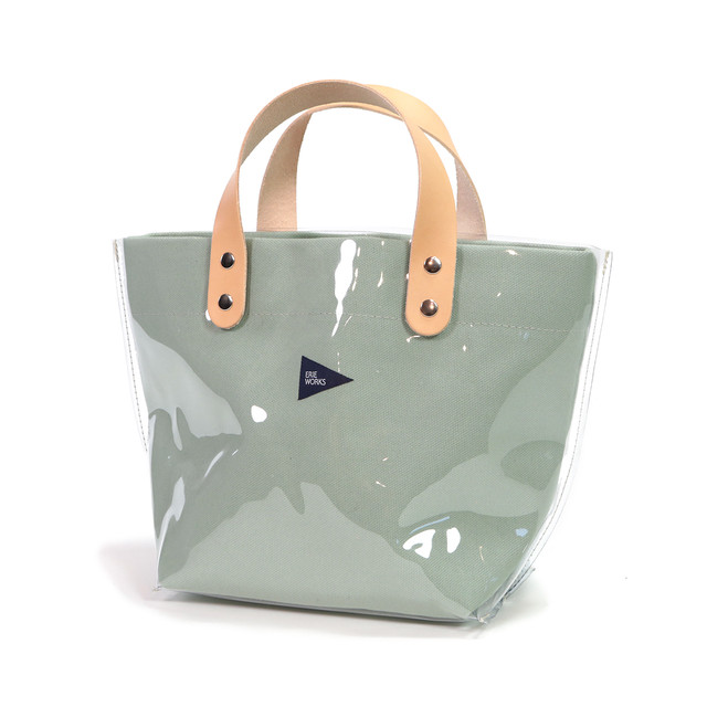 """SWITCHING TOTE(SMALL -CLEAR-)""""Michelle"""" LIGHT GREEN / スウィッチングトート(スモール -クリア-)""""ミッシェル"""" ライトグリーン"""