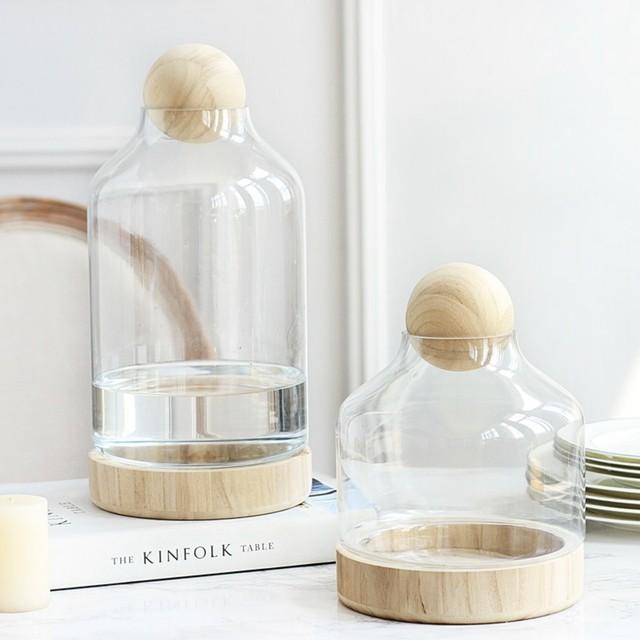 ハンドメイドガラス花瓶 (大サイズ)