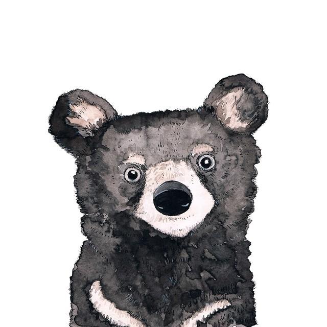 2020秋冬新作【Paperproducts Design】バラ売り2枚 ランチサイズ ペーパーナプキン Bear ホワイト