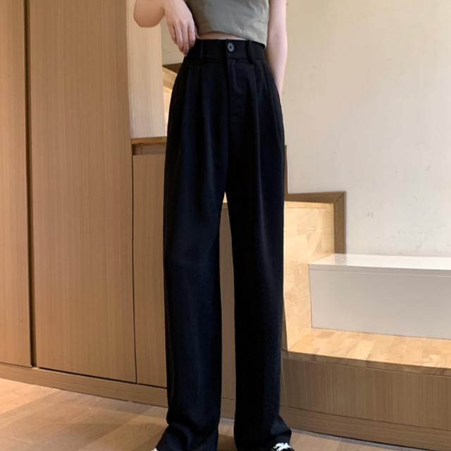 High waist street wide pants LD0544