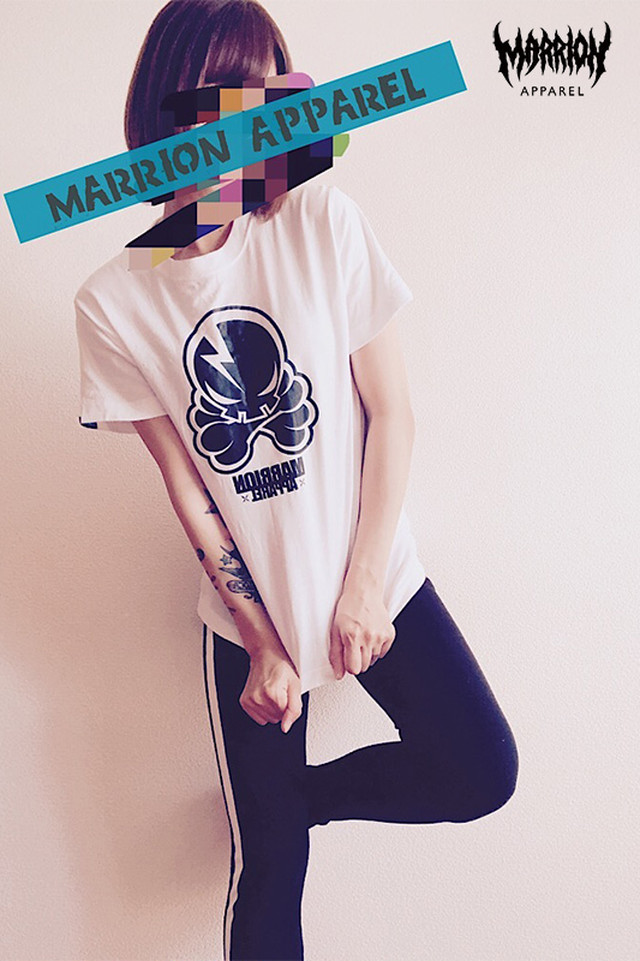 Octopus Skull MMA Tee (White×Black)