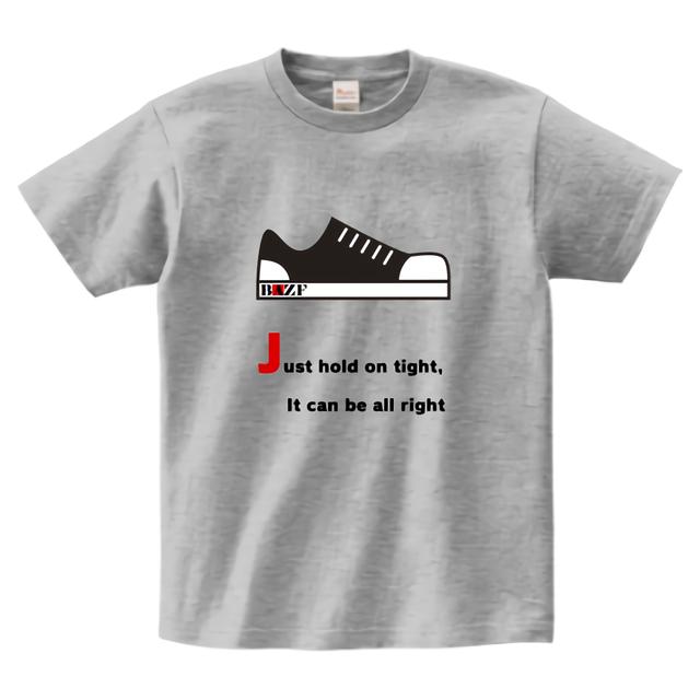 踏みしめろヘビーウェイトTシャツ(グレー)