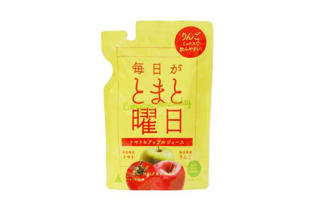 トマトが苦手なお子様でも飲みやすい『毎日がとまと曜日 トマト&リンゴミックスジュース』