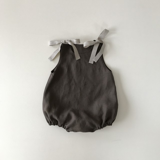 baby rompers : brown (60〜80)