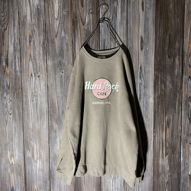 [Hard Rock Cafe]Barcelona khaki sweat