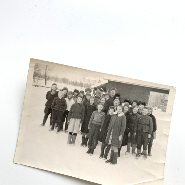 Vintage Photo / One winter day