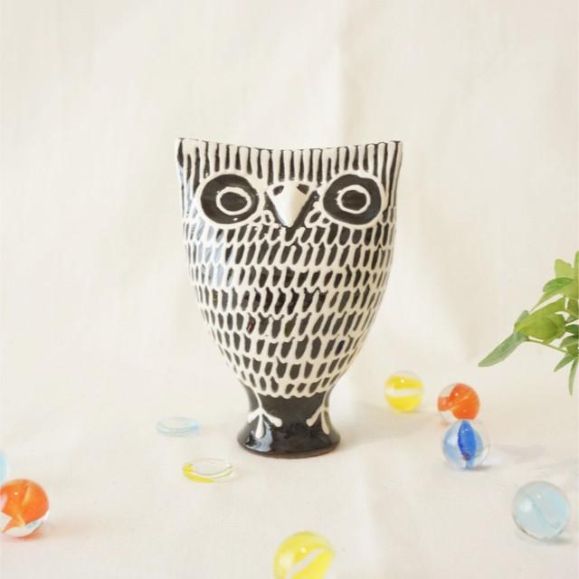 433 リトアニア 陶器の笛/フクロウ