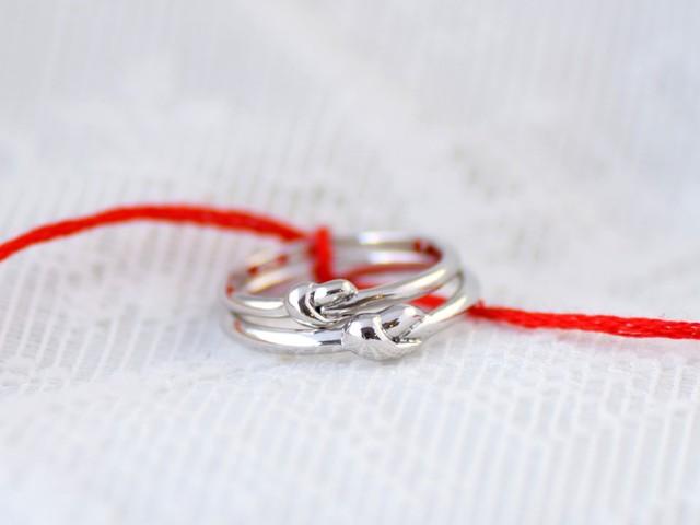 縁結びの結婚指輪 レディースサイズ Pt900