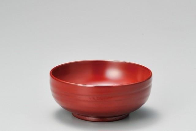 地の粉 スープ椀 古代朱