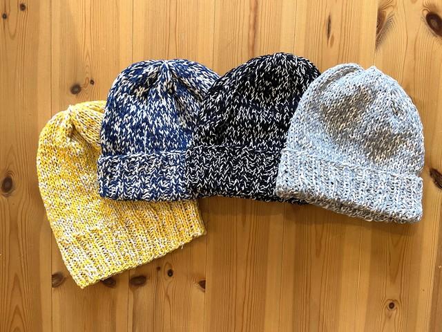 編どり屋 和紙を使った定番のニット帽子 編み物キット