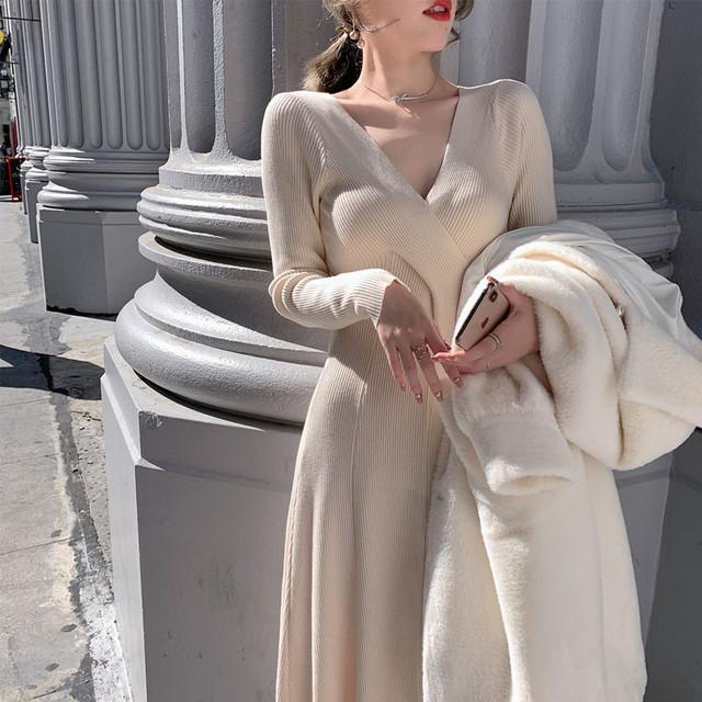 【dress】エレガントな印象ニットワンピース25637199