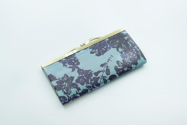 【秀和 x pink india】北欧デザイン 牛革がま口復刻長財布 | stella blue