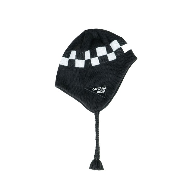CAPTAINS HELM #Checker Fleece Ear Beanie