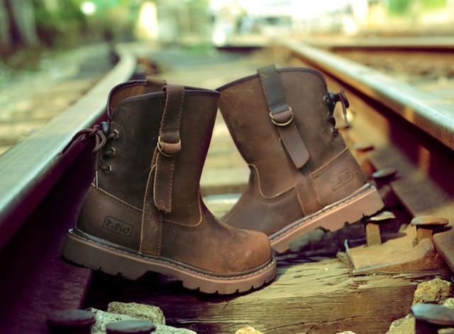 ブーツ レザー 本革 メンズ ウォーキングシューズ シューズ 革靴 軽量 カジュアルshs-368