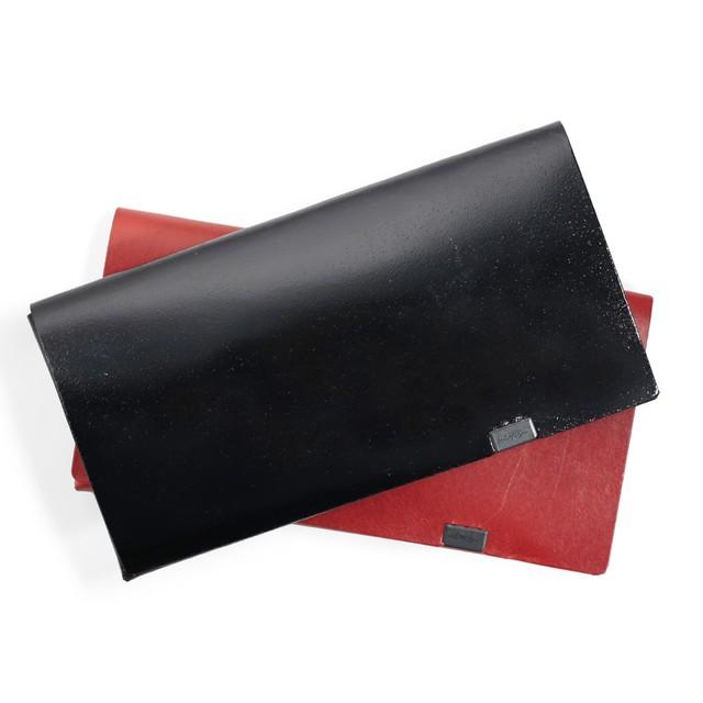 ボレロ ロングウォレット ブラック箔×レッド、レッド×ブラック箔