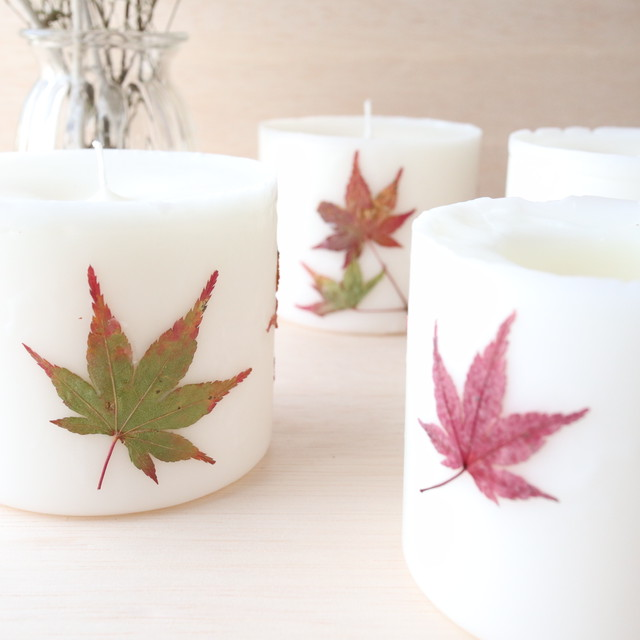 秋新作 紅葉 SOY CANDLE SHORT TYPE
