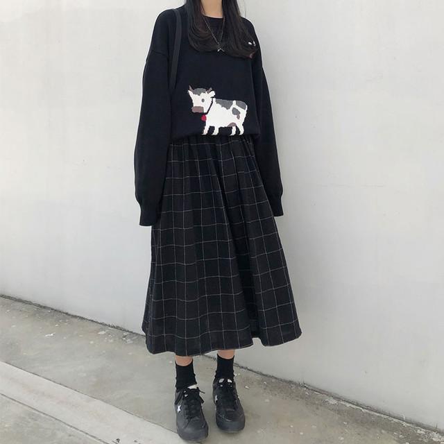 【set*単品注文】カートンニット韓国ファッション新作トレンドセットアップ