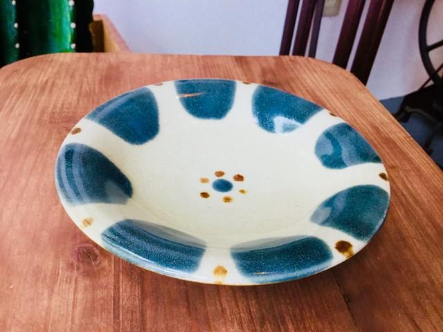 皿5寸 呉須 チチチャン  ノモ陶器製作所