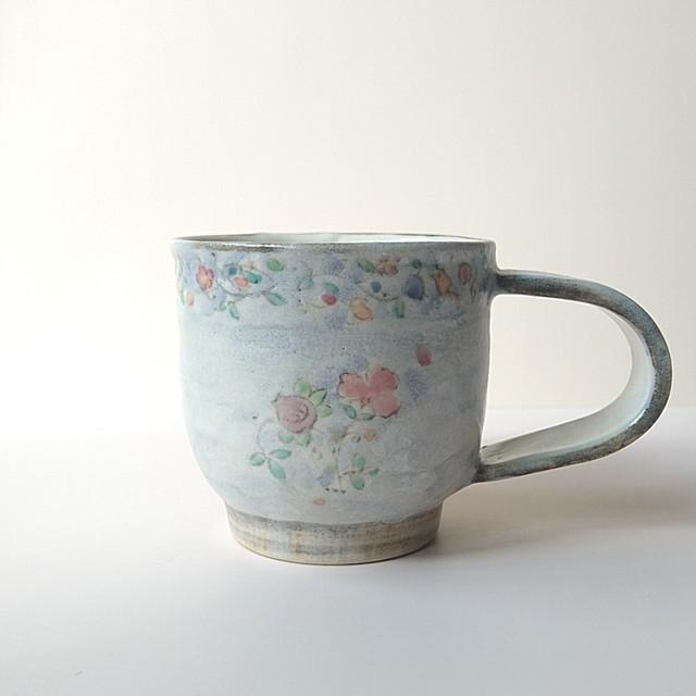 更紗コーヒーカップ ライラック