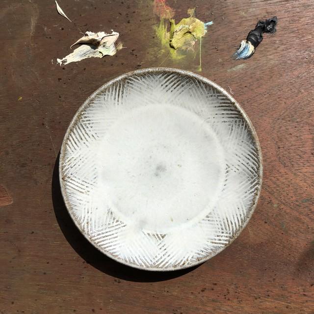 小代焼瑞穂窯 アヤスギ5寸皿