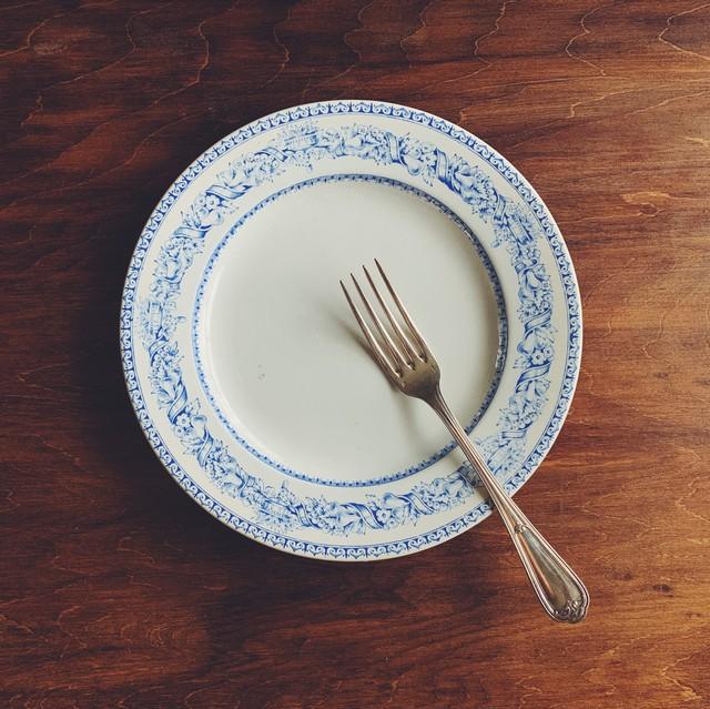 果物と花のリース皿 (フラット)
