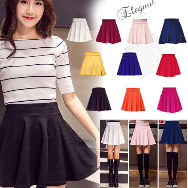 フレアスカート ミニスカート ハイウエスト skirt レディース|全国送料無料! la0356