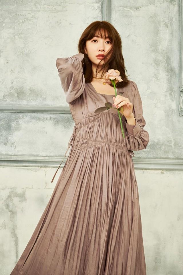 Side Bow Vintage Twill Dress