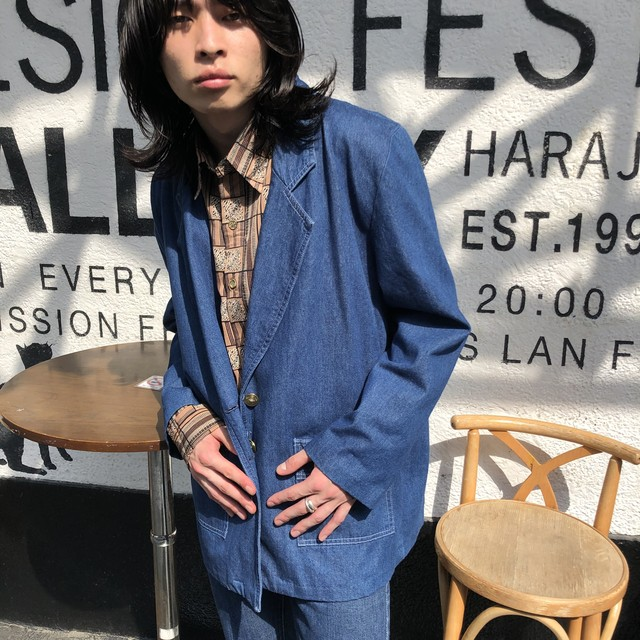 "VINTAGE""DENIM TAILORED JACKET"""