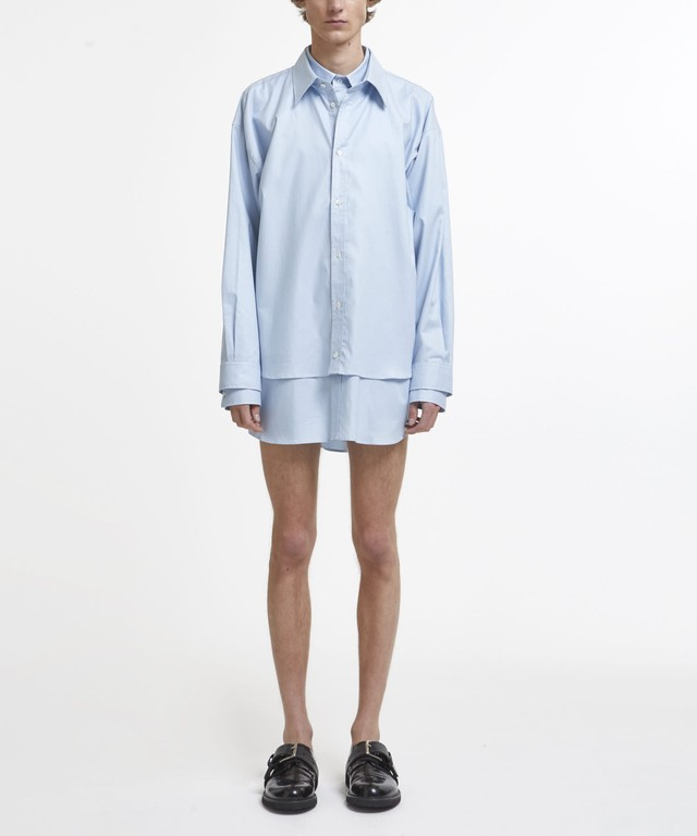 Sax Layered Oversized Shirt