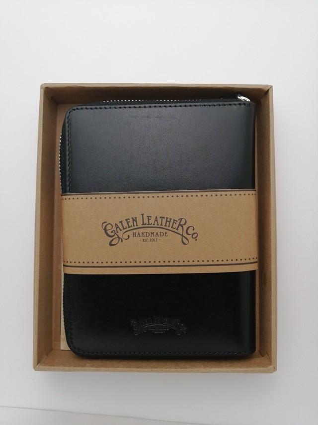 【Galen Leather/ガレンレザー】レザー ジップ5本差しペンケース (チョコレートブラウン)