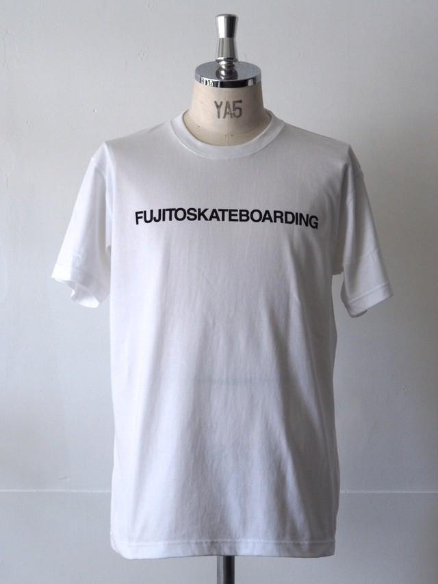 FUJITOSKATEBOARDING Print T-Shirt  White (Name ver.)