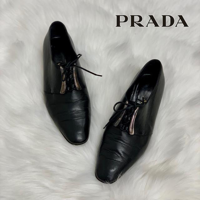 561 プラダ PRADA レザー シューズ