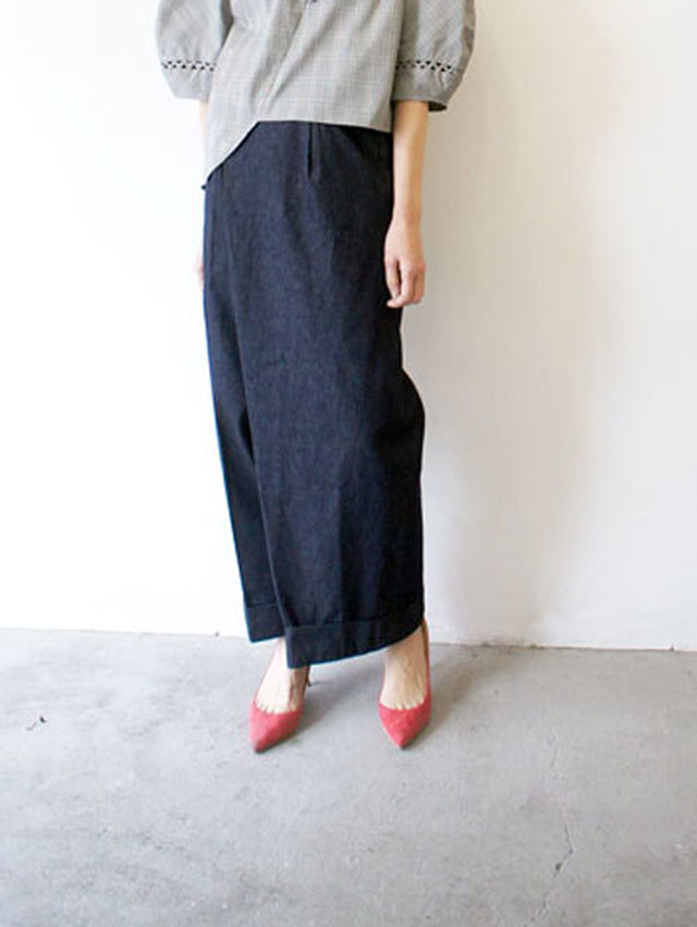 vintage finished jersey maxi skirt / Munich