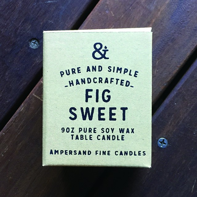 9oz Amber Jar Candle -FIG SWEET- キャンドル Candles - メイン画像