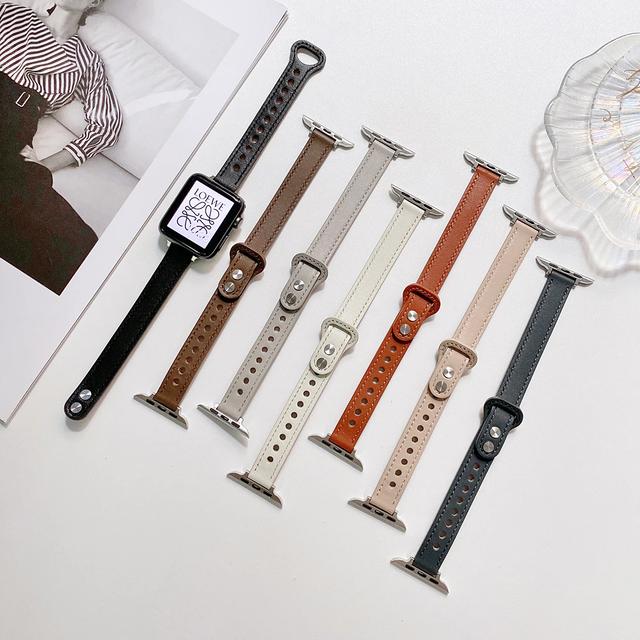 Slim leather bracelet apple watch belt