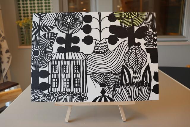 壁掛けパネル(木製パネル27×34㎝+marimekko壁紙) リントゥコト