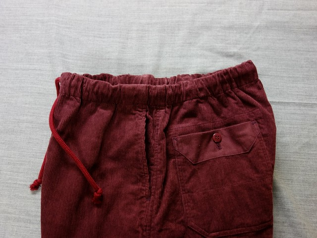 da corduroy easy pants / antique-bordeaux