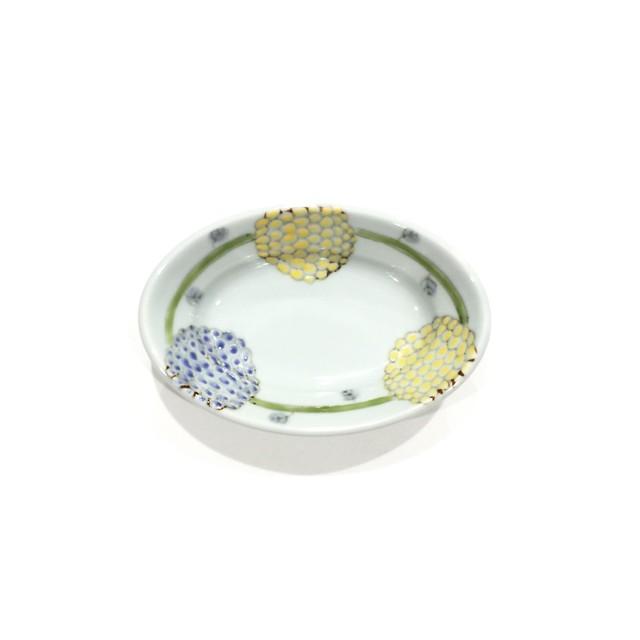 手まり花  楕円小鉢