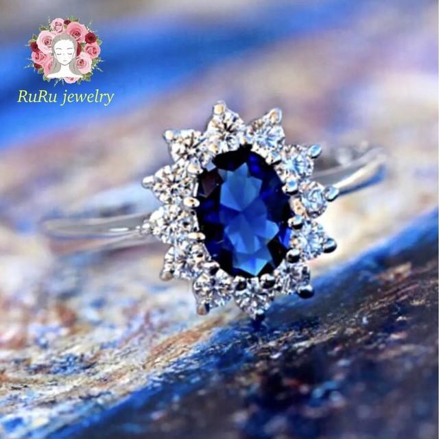 Sapphire cz diamond(ring)
