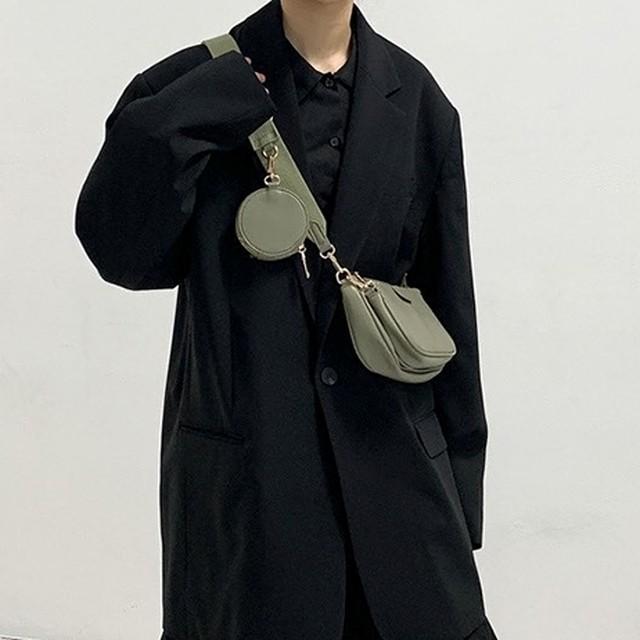 Leather multi-shoulder bag   b-351